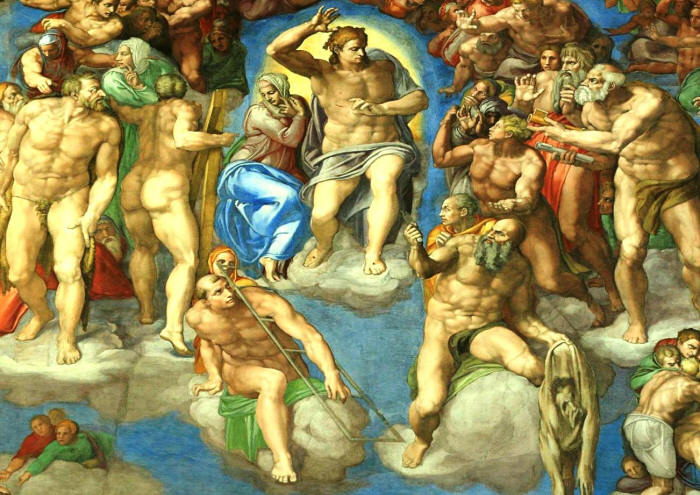 the last judgment and the life of the painter michelangelo buonarroti